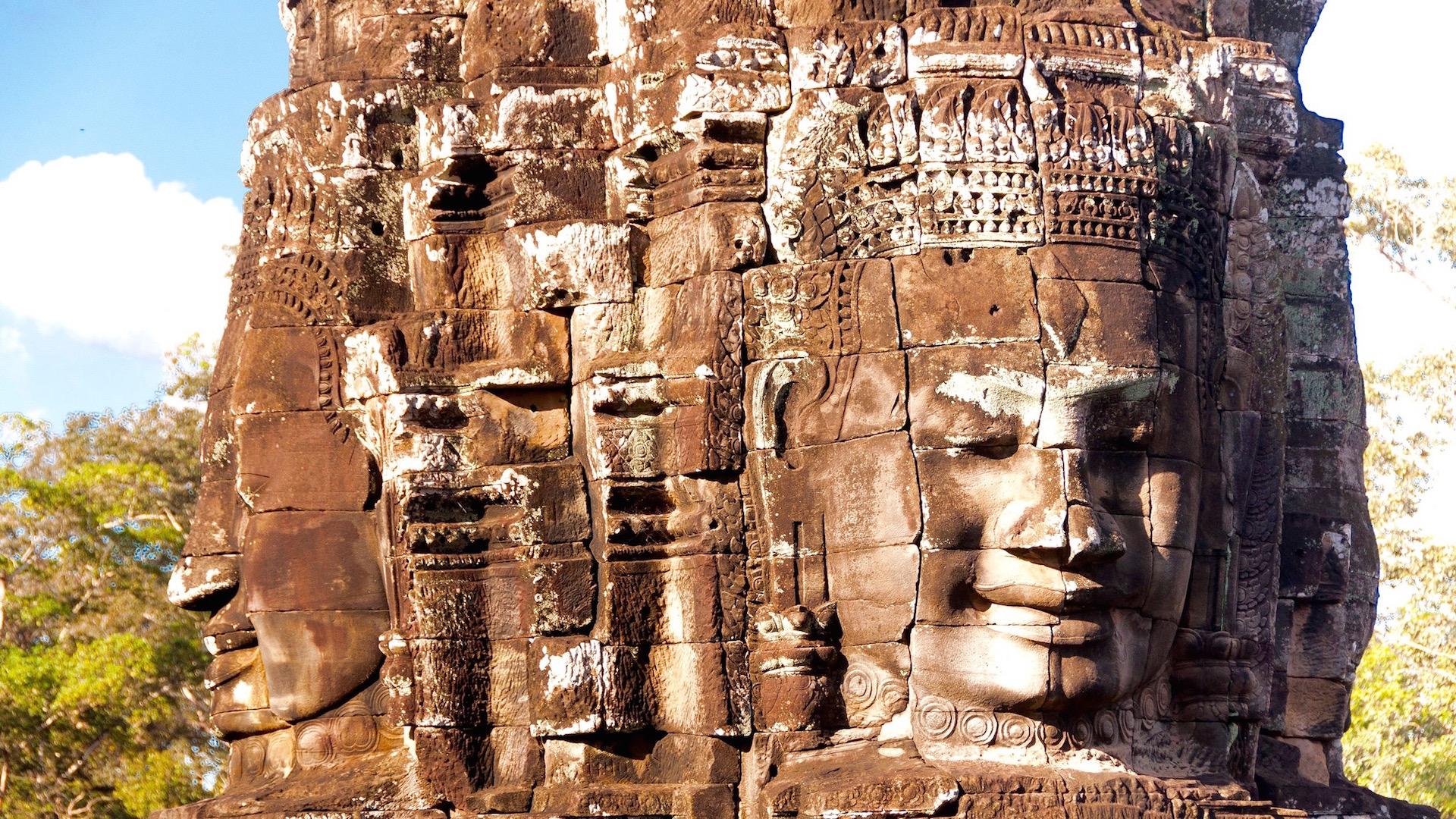 Bayon Faces, Cambodia