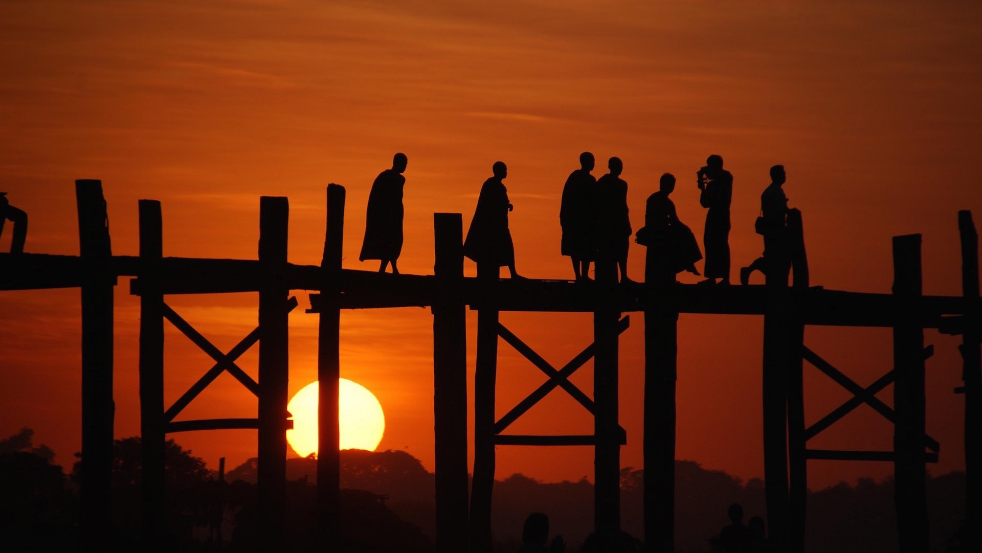 U Bein Bridge, Burma