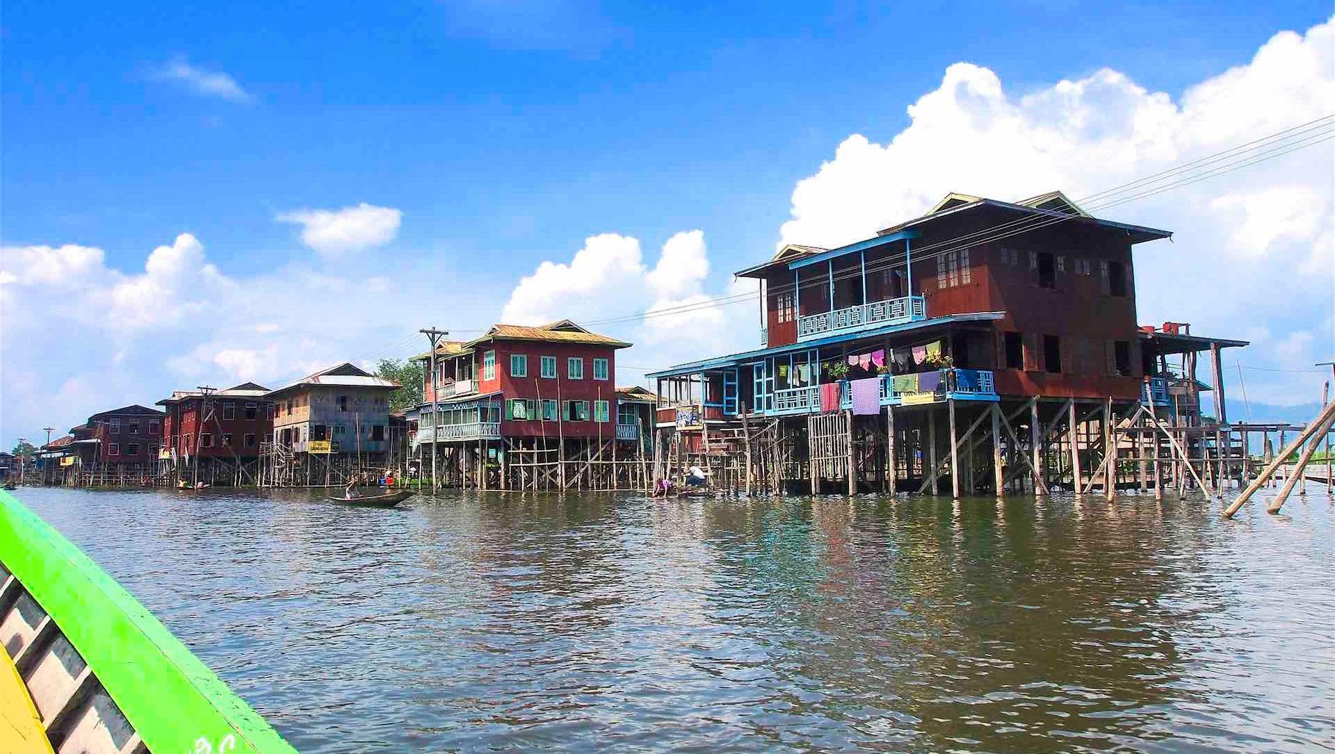 Inle Lake houses, Burma