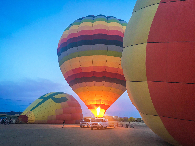 Hot air balloon | Photo: Liz Laing